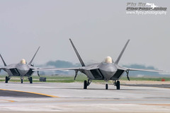 Section of Raptors (Fly By Photography) Tags: usa plane virginia fighter airshow stealth hampton usairforce 1stfighterwing lockheedmartinf22araptor 94thfightersquadronspads langleyafblfiklfi airpoweroverhamptonroads2007 044075ffcn6454075 054094ffcn6454094