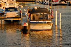 Michigan City Harbor 9-12-2016 8612 (www.cemillerphotography.com) Tags: lakefront lakemichigan sundown dusk nightfall washingtonpark recreation megawatt energy emissions indiana factory smokestack smoke