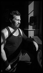 Nokia Lumia 1020 & PicMonkey - Black & White Version - An impromtu portrait of my friend, Andy (TempusVolat) Tags: picmonkey man pub darts sunlight chairoscuro garethwonfor tempusvolat gareth wonfor tempus volat mrmorodo nokia lumia 1020 cameraphone pureview swindon themerlin portrait lightanddark light dark shoulders beard face mono bw black white