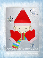 Oriland Greeting Card. Winter Boy (Oriland) Tags: origamichristmastreats book paperback star compassrosestar compassrosestarvariation ornament'snowflake' ornament'maltese' 5pointstar smilingstar 5pointflower magicwand doublestar bicolourdoublestar mitten scarf hat ring chain kusudama'coral' kusudama'floralcoral' christmasbells orilandebook origami おりがみ 折り紙 paperdesign origamibykatrinandyurishumakov orilandcom paper paperart toronto ontario canada