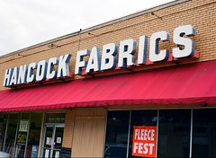 Hancock Fabrics (Steve Snodgrass) Tags: mamiya storefront m645