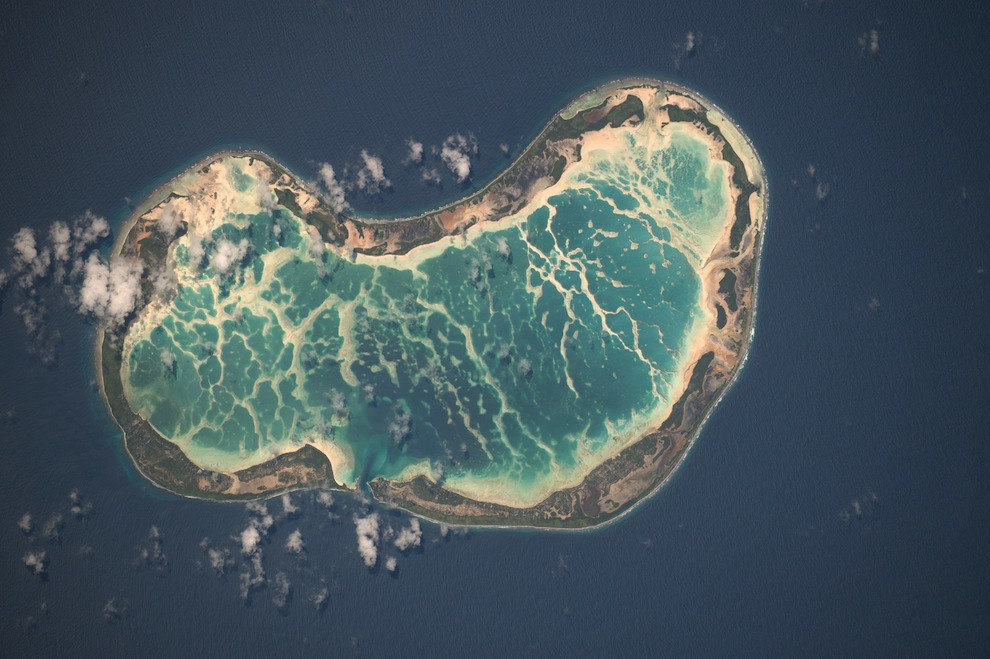 Incredible Photos from Space: Atoll in South Pacific