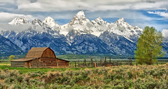 The Old West (Jeff Clow) Tags: ranch mountains barn rural landscape farm western wyoming tetons grandtetonnationalpark theoldwest jacksonholewyoming moultonbarn johnmoultonbarn