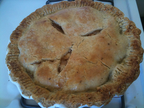 Apple pie, fresh out of the oven!