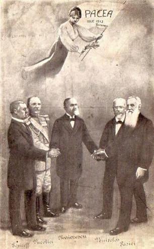 Carte postala cu pacea de la 1913