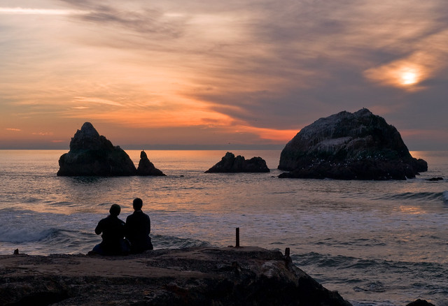 Sutro Baths Sunset Couple