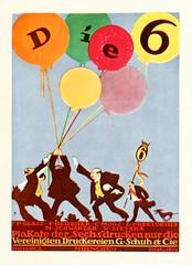 """""""Die 6"""" Poster by Emil Preetorius, 1914 (Double--M) Tags: typography graphicdesign graphics yearbook advertisement german type 1914 jahrbcher deutschewerkbund"""