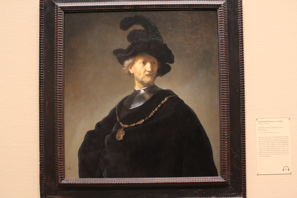 Old Man with a Gold Chain, Rembrandt (1631)