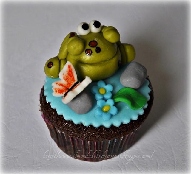 cupcake decorati.. Lumaca e Ranocchia