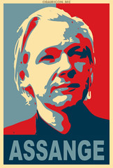 Assange (MastaBaba) Tags: blue red white poster hope politics culture social pop change warhol obama commentary wikileaks julianassange assange bf:blogitem=5038