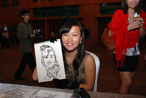 caricature live sketching for Ernst & Young D&D 2010 - 6
