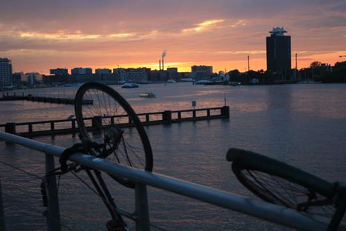 Bicicleta na Holanda: verão
