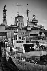 Final Goodbye (ShrubMonkey (Julian Heritage)) Tags: bw mono ship aircraft ships navy historic portsmouth aircraftcarrier arkroyal drydock carrier dockyard royalnavy hmsarkroyal r07 hmsmonitor
