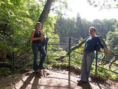 Helen and Helen, New Lanark (davidmcnuh) Tags: river scotland clyde walkway valley viewpoint newlanark lanarkshire lanark helend heleng