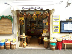 Typical Norcineria (pork butcher shop) in Norcia (houstonfoodie) Tags: italy pork norcia norcinerias
