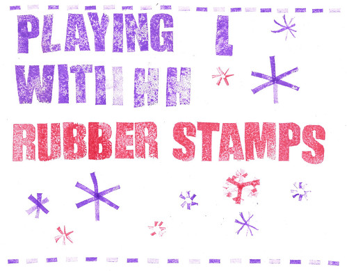 Playing with rubber stamps