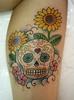 Rose 'n Skull Day - 003 Minha 3ª tattoo