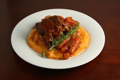 Braised Short Ribs with Autumn Root Vegetable Puree