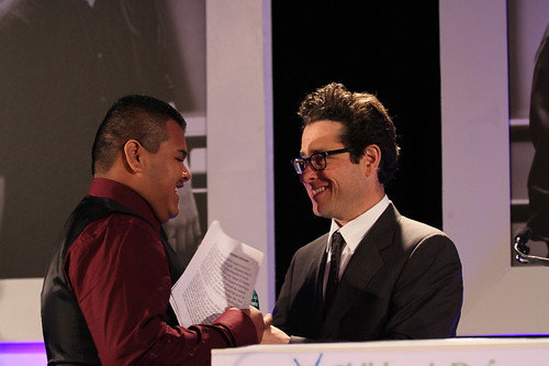 Beat the Odds Honoree Jonathan Calderon and J.J. Abrams