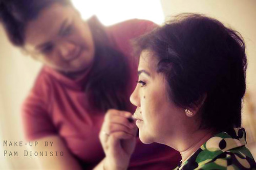 Wedding Dizon-Mendoza Hairstyle partner Allan Mesina Make-up by Pam.