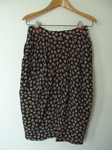 Structured Patterned Silk Skirt