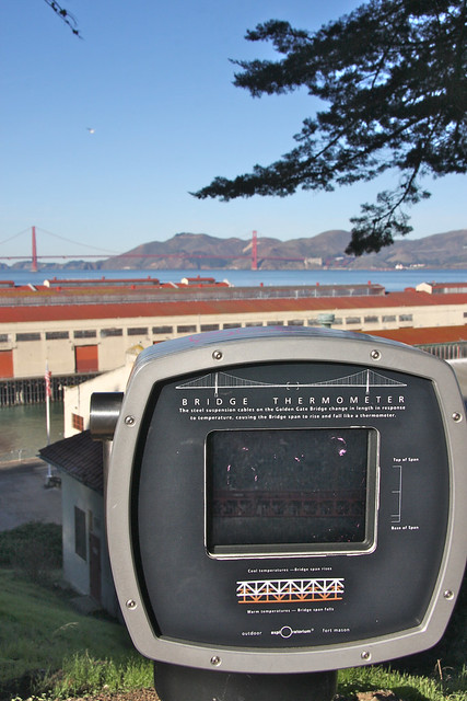 The Golden Gate Bridge is a thermometer