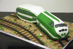 N1008 - toronto go train cake (www.fortheloveofcake.ca) Tags: birthdaycake traincake noveltycake kidscake boyscake 3dtraincake torontocustomcake torontodesignercake gotraincake toronto3dcake