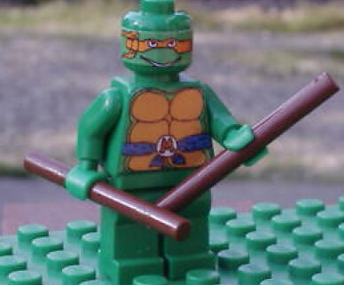 teenage mutant ninja turtle custom minifig