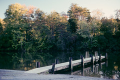 Dock (Paul Glover) Tags: usa film analog river landscape virginia dock structure hardy kodachrome64 canonf1