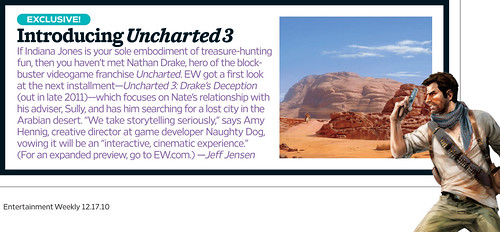 Uncharted 3 in Entertainment Weekly