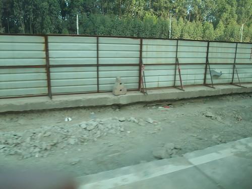 中国の道路の舗装