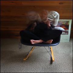 Life is a blur (1crzqbn) Tags: longexposure baby selfportrait motion black orchid color reflections square death contemporaryart autoretrato naturallight masks photograph 7d selfie mexicanfolkart 345 hcs eamesrockingchair georgiaokeeffe project365 artdigital lifeisablur awardtree 1crzqbn clichesaturdays