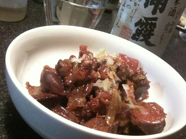 鶏レバと砂肝で鶏もつ煮リベンジ! #jisui