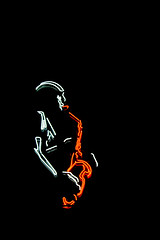 cool (Lerryn.Pics) Tags: orange london waterloo saxophone archduke shotonblack copyrightgdk2010