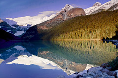 Lake Louise - Autumn (Jackpicks) Tags: trees lake canada mountains reflection landscape glacier alberta lakelouise blueribbonwinner 100comments bej goldstaraward rubyphotographer mygearandmepremium mygearandmebronze dblringexcellence canadianlandscapephotography gpsetest