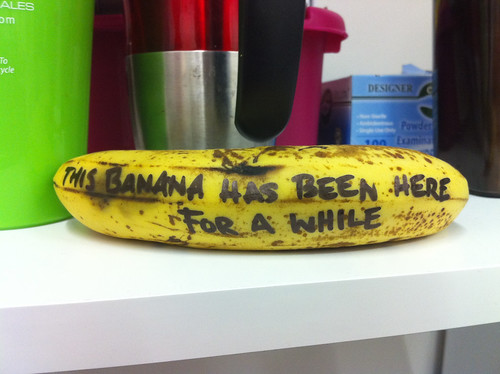 This banana has been here a while.