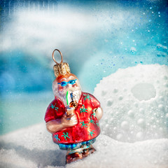 349/365: Mele Kalikimaka from the land where palm trees sway! (pixelmama) Tags: texture sparkles sand december bokeh ornament merrychristmas gettyimages seaurchin 2010 hohoho melekalikimaka project365 snowtexture tropicalsanta 3652010 hawaiianchristmassong