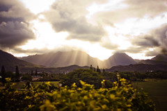 Heaven (Jeremy Snell) Tags: flowers light sun clouds hope hawaii oahu stormy holy rays majestic pouring lanikai midpacificcountryclub