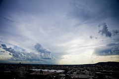 Here we go again.... (obLiterated) Tags: storm clouds other places brisbane thunderstorm cloudsweather brisbanesquare
