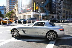 SLS. (Damian Morys Photography) Tags: new york city nyc mercedes benz manhattan 63 exotic german rare sls sportscar amg gullwing carspotting carspotter