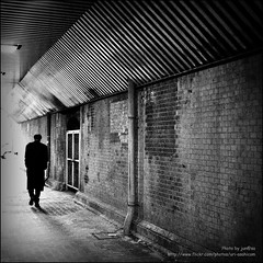 Brick (jun@sa) Tags: street city winter light bw brick classic texture silhouette japan wall dark blackwhite loneliness atmosphere  nostalgic lonely cinematic        500x500