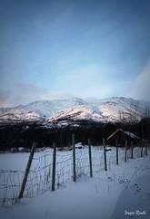 Mountain view (IngaPlinga77) Tags: winter light snow mountains cold fence cabin view shed mountainarea mygearandmepremium mygearandmebronze