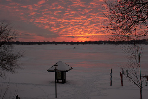 sunset on Lake Calhoun