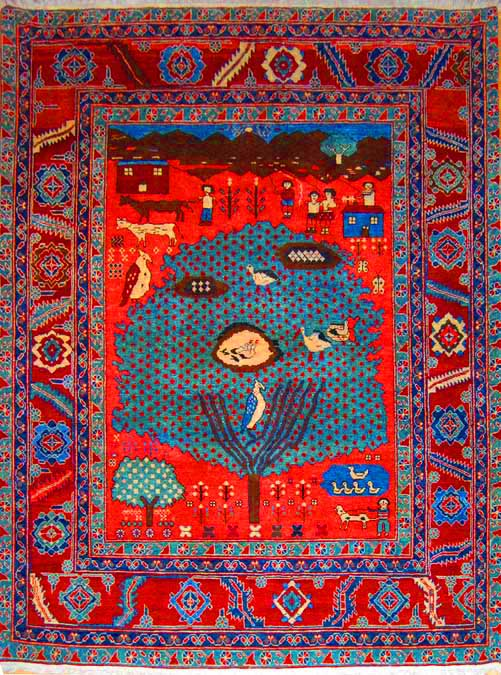 Azeri Folk Life Carpet