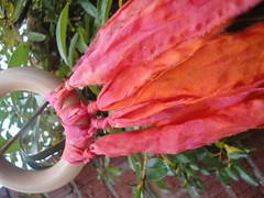silks 266 (The Purple Tangerine) Tags: waldorf pixie teether tails steiner babytoy woodtoy silkscarves playsilks naturalsilkscarf stiener woddentoy babyteethingring pixietaila handdyedplaysilk silktreamer naturalwoodtoy playsilkscarves playsilktoy