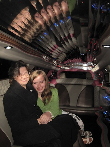 12/18/10: In the limo to the theater