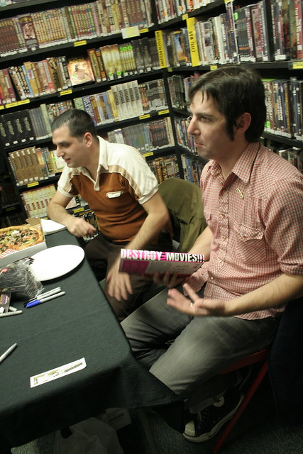 Destroy All Movies!!! book signing at Scarecrow Video, Nov. 12, 2010