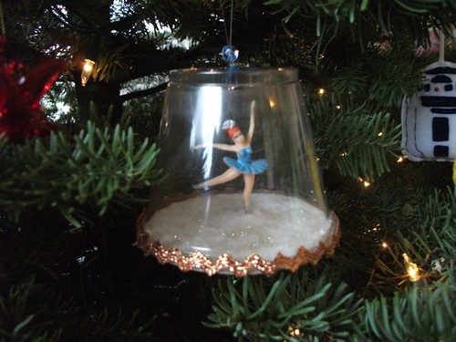 blue ballerina winter wonderland ornament
