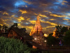 Big Thunder Sky... if only... (Ring of Fire Hot Sauce 1) Tags: night disneyland sunsetsky frontierland bigthunder