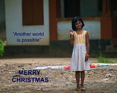 Merry Christmas - Feliz Navidad - Bon Nadal (rabataller) Tags: christmas smile navidad child indian nia sonrisa greetings merry merrychristmas nadal anotherworldispossible feliznavidad 2011 felicitacin bonnadal